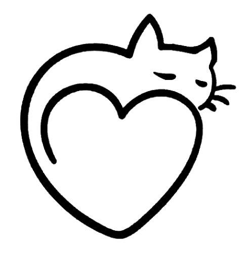Black Cat Homestead heart kitty